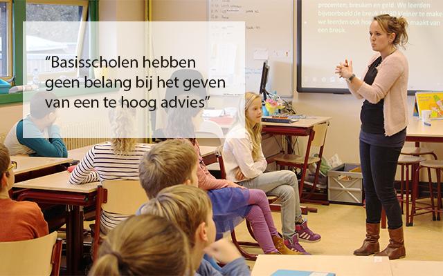'Schooladvies gebaseerd op weloverwogen beeld leerling'