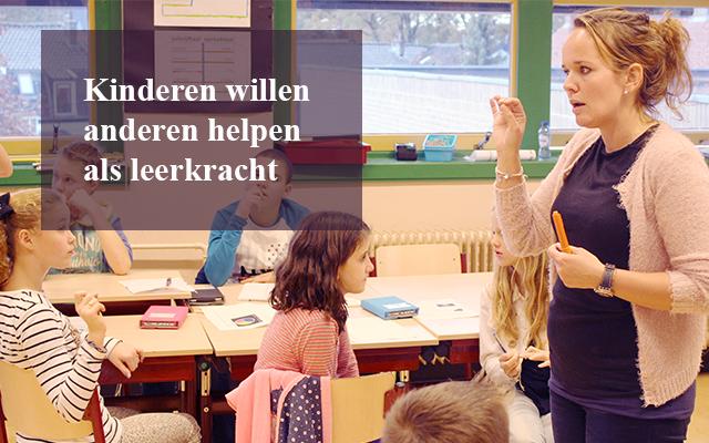 Kinderen willen leerkracht worden